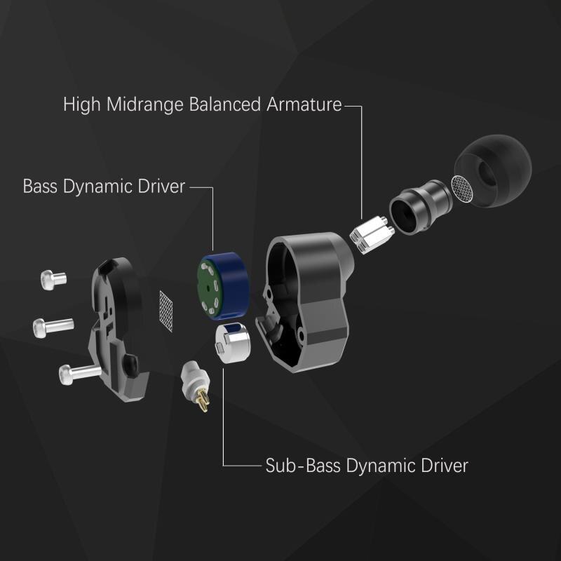 Yinyoo Revonext QT3 2DD+2BA Hybrid In Ear Earphone HIFI DJ Monito Running Sport Earphone Earplug Headset Earbud Upgrade For QT2