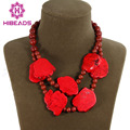 Beautiful Red Irregular Turquoise Necklace Red Coral Beads Necklace Wedding&Anniversary Jewelry Wholesale Free Shipping AJS113