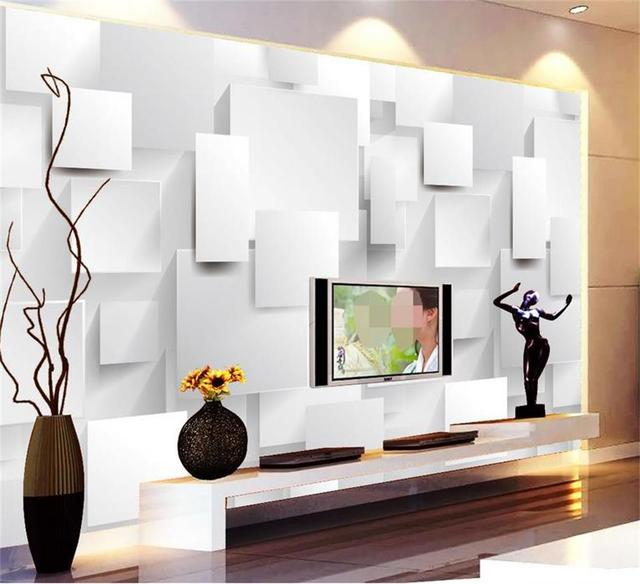 3d behang aangepaste foto muurschildering woonkamer dimensionale ...
