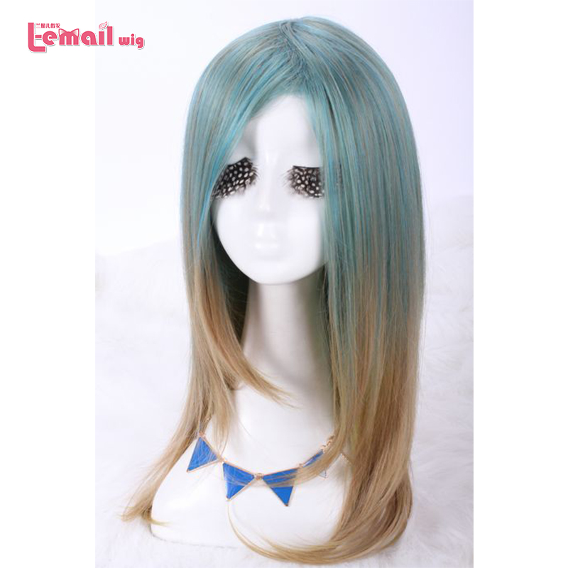 L email wig Brand New Long Cosplay Wigs Mixed Color Heat ...
