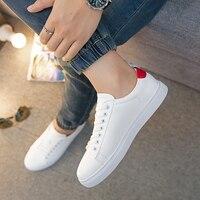 2018 новые белые туфли мужские дышащие белые кроссовки обувь для отдыха корейский студент дикий белый Мужская обувь, плотно сидящая на ноге