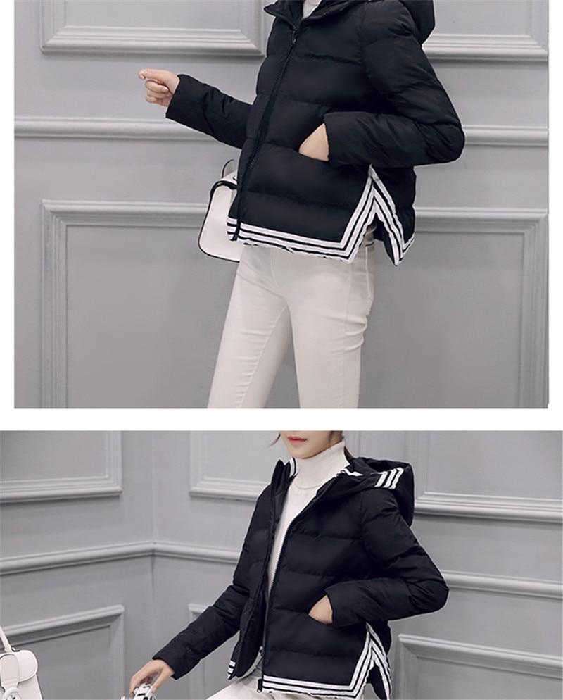 Court Manteau Noir Femmes Chaud Top Coupe blanc Veste Coton Femme vent Parkas Hiver Capuchon Belle Manteaux Vestes À Survêtement Vêtements ASvxgqp