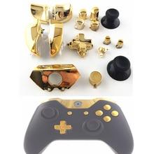استبدال أجزاء إصلاح الكروم الذهب ABXY مشغلات Dpad أزرار كاملة مجموعة أطقم تحكم وزارة الدفاع ل Xbox One XboxONE 16 قطعة/المجموعة