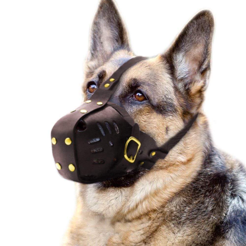 Genuine Leather Luxury Dog Muzzle Adjustable for Medium and Big Dog-in Muzzles from Home & Garden on AliExpress - 11.11_Double 11_Singles' Day 1