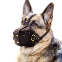 Genuine Leather Luxury Dog Muzzle Adjustable for Medium and Big Dog