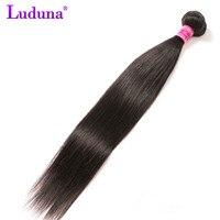 Luduna Straight Hair Brazilian Hair Weave Bundles 100 Human Hair Weaving Natural Color 8 28inch No