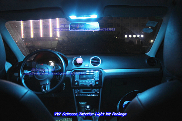 buy car led for vw scirocco interior led light kit package cool white led front. Black Bedroom Furniture Sets. Home Design Ideas