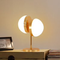 Two Half Sphere Table Lamps Modern Study Bedroom Table Lamp Living Room Decoration Glass Lamparas de mesa