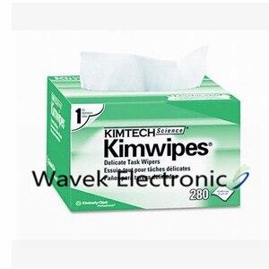 Image 1 - 280pcs/box Fiber Cleaning Tool Kimwipes Dustfree Paper Fiber Optic Low lint Wipes