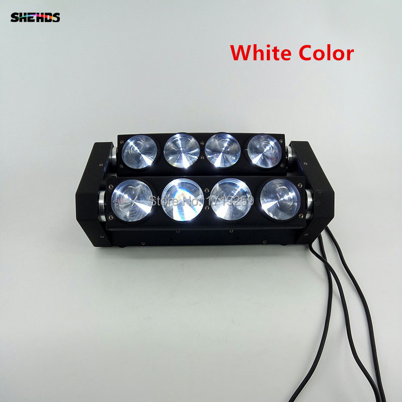 Expédition rapide Blanc led araignée faisceau lumière led 8x10 w bar poutre mobile tête faisceau led araignée lumière blanc LED
