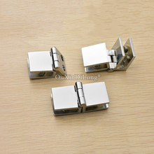 Brand New 10PCS Zinc Alloy Glass Cabinet Hinges Cupboard Display Wine Clamps Hinge No Drilling