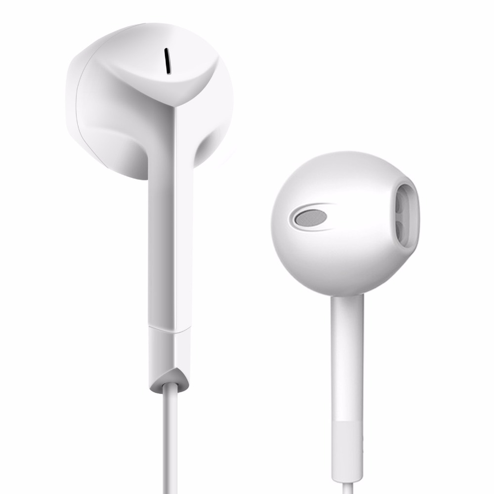 Original PTM F2 Earphone Patent Half In-ear Headphone Stereo Earbuds Bass Headset with Microphone for iPhone Xiaomi