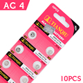 10Pcs/1card Ag4 Button Cell Batteries 1.5V SR626 377 177 LR626 Li-ion Button Battery Electronic Accessories Size 7.9*3.6mm For