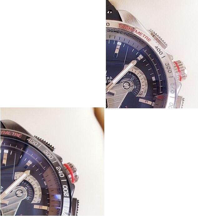 Marque de luxe nouveaux hommes argent acier inoxydable noir caoutchouc classique rond chronomètre automatique mécanique Sport montres 43mm