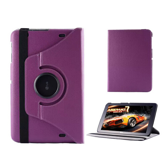 New Rotating 360 Degree Folio Stand Rotary Leather <font><b>Case</b></font> Protective Cover For LG GPad G Pad 10.1 <font><b>V700</b></font> VK700 10.1