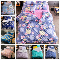 Flower pattern Duvet Cover Quilt Comforter Case Bedding Set 3/4 pcs Bed Linen Summber Autumn Kid Cotton Bedlinen Queen King Size
