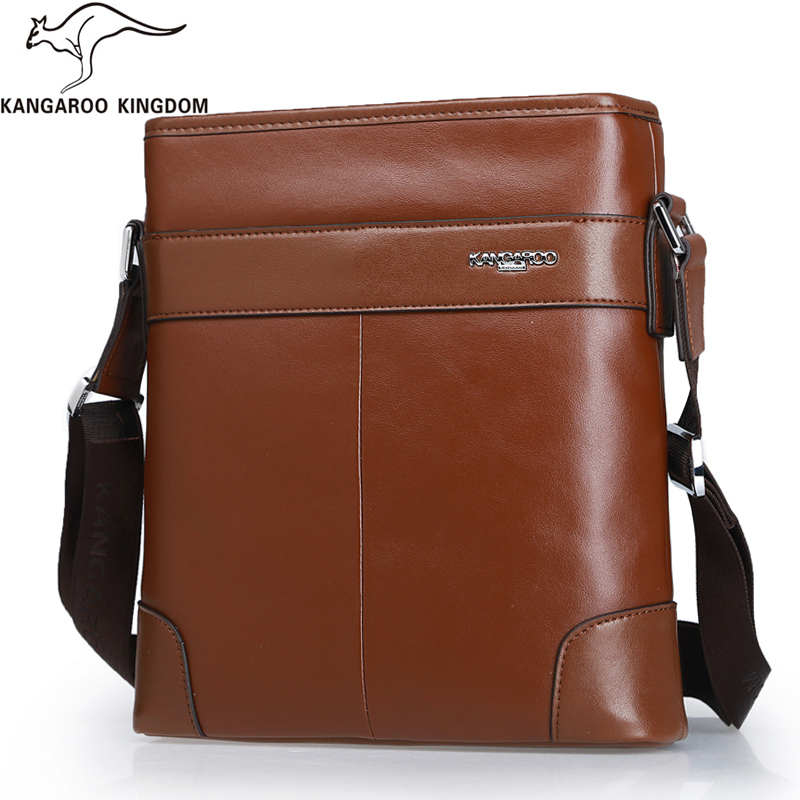 Kangaroo Kingdom Fashion Men Messenger Bags Genuine Leather Bag Male Crossbody Shoulder Bag Brand kangaroo kingdom famous brand nylon men bag chest pack male one shoulder crossbody messenger bags