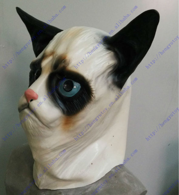 Celebrations Costume Party Grumpy Cat Mask-in Party Masks from Home ... fcc3ae7cdb9e