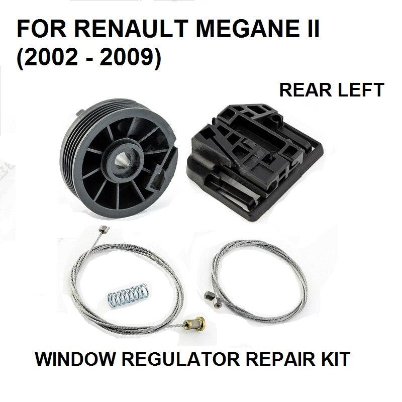 CAR WINDOW FOR RENAULT MEGANE 2 II WINDOW REGULATOR REPAIR CLIPS KIT REAR-LEFT NEW 2002-2009