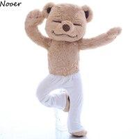 Nooer Yoga Ayı Peluş Oyuncak Yaratıcı Sevimli Yoga Ayı Dolması bebek Yumuşak Konfor Bebek Oyuncakları Çocuklar Için Doğum Günü Hediye Çocuk kız arkadaşı