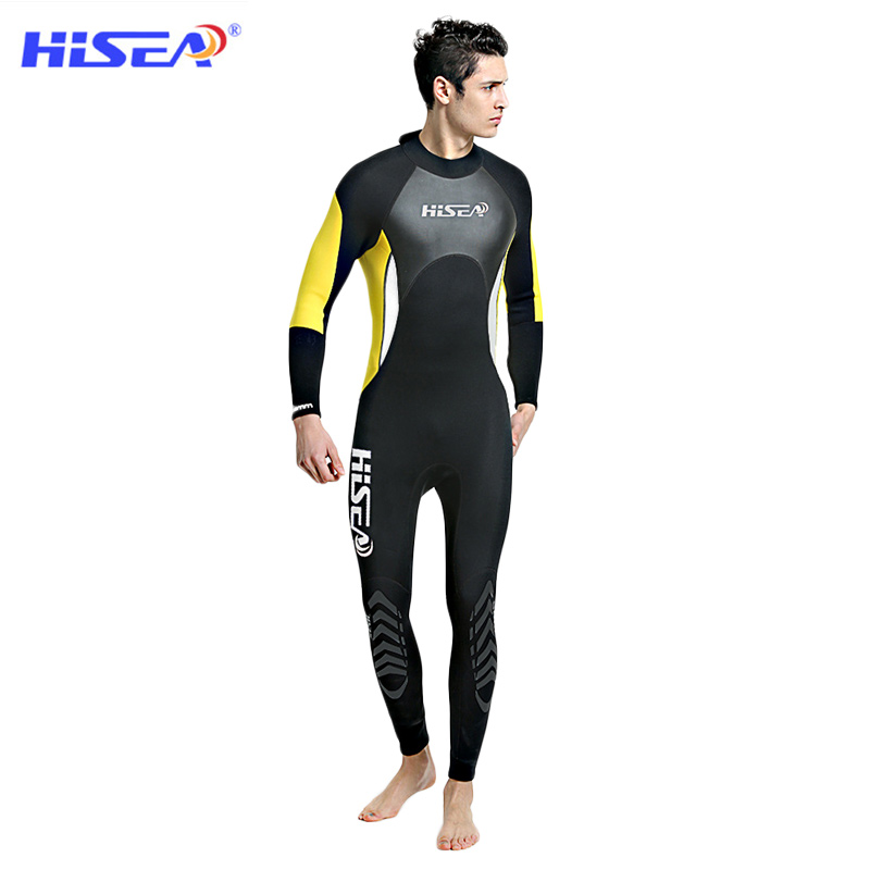 HISEA 3MM Neoprene Wetsuits Adult Diving Suit Keep Warm Airtight Jellyfish Snorkeling Surfing Water Skiing Scuba