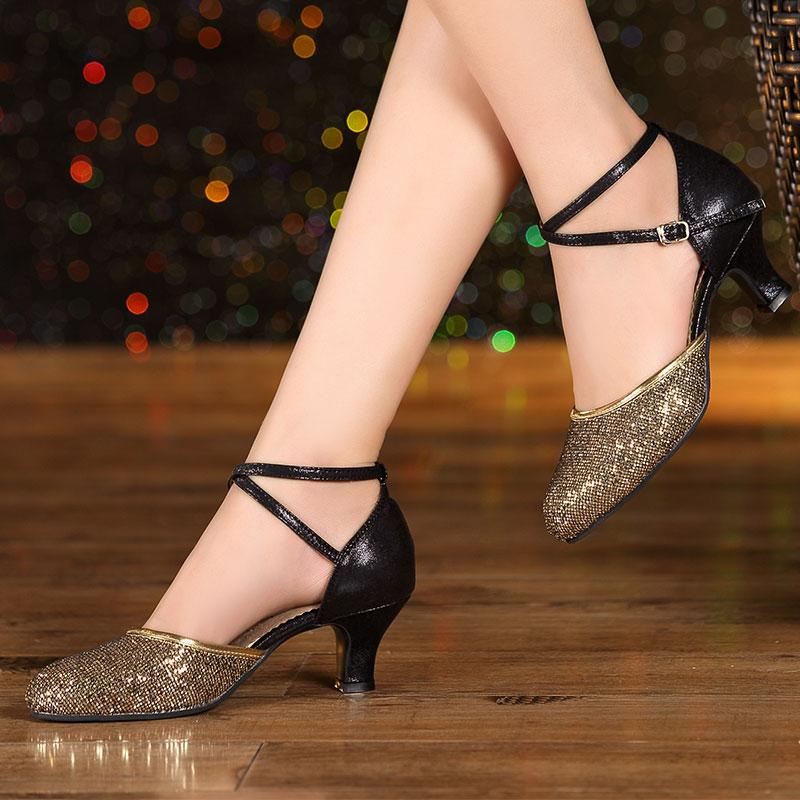 Prix pour Femmes Dames Salle De Bal Latine Chaussures De Danse À Talons Hauts 3.5 cm, 5.5 cm, 7 cm Tango Salsa Danse Sandales Chaussures