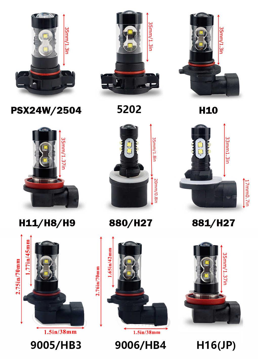SHDLIFE PSX24W H16 H8 H11 H10 9145 9006 HB4 H7 coche luces de niebla DRL LED para Toyota Tacoma Tundra Corolla auris Toyota Camry Yaris Avensis