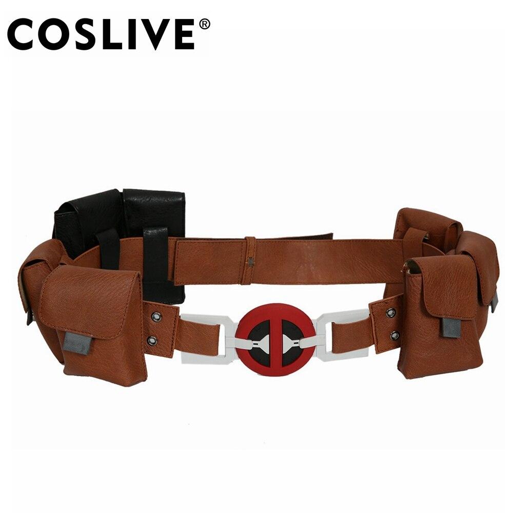 Coslive Deadpool 2 Deadpool ceinture adulte Cosplay accessoires 2019 Halloween Festival fête nouveau PU ceintures Cosplay Costume accessoires