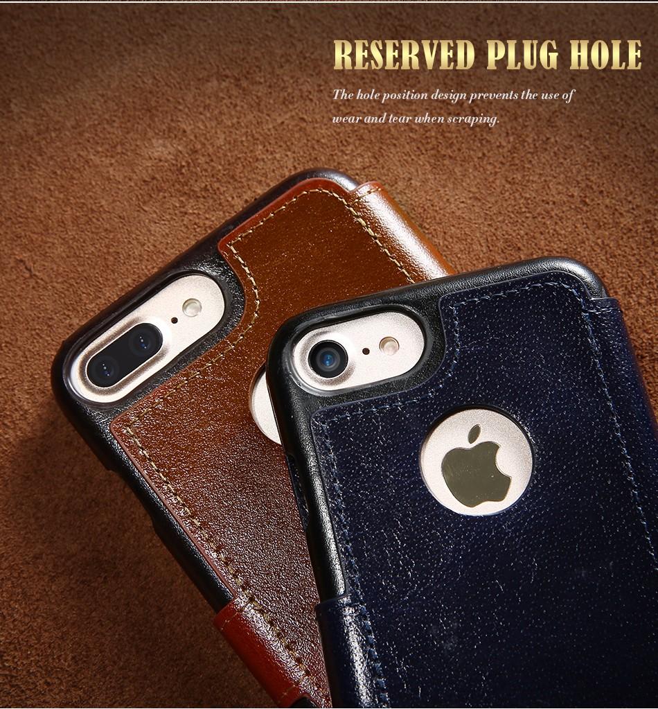 Floveme vintage klapki skóra case dla iphone 7 6 6 s pokrywa z karty uchwyt luksusowe wallet case for iphone 7 7 plus 6 6 s plus capa 12