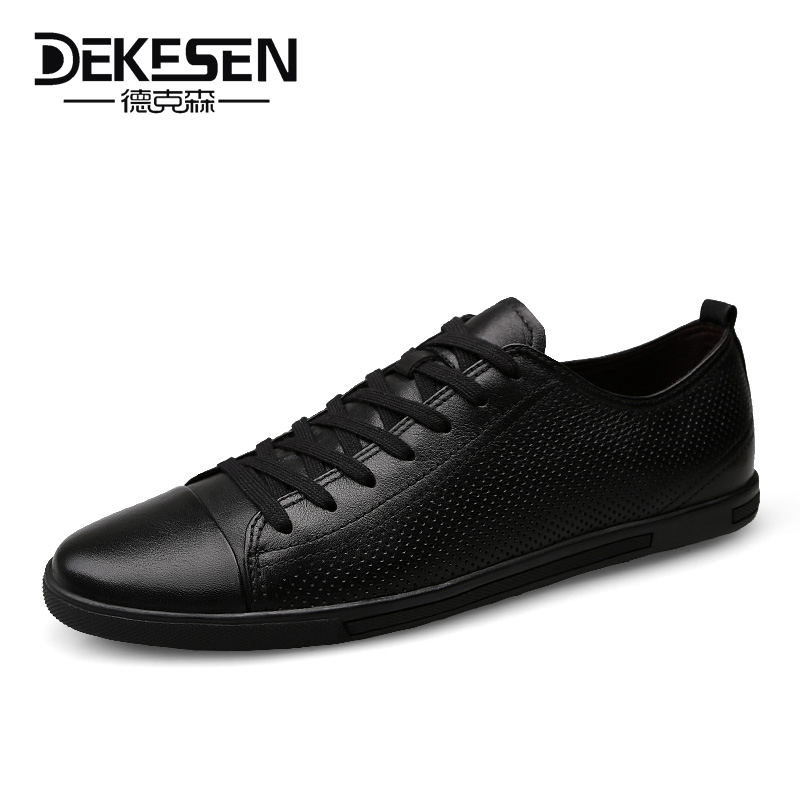 Dekesen 2017 New Fashion Genuine Leather Men Casual Shoes, Luxury Brand Men Flats Shoes Lace up Shoes Men Loafers Driving Shoes top brand high quality genuine leather casual men shoes cow suede comfortable loafers soft breathable shoes men flats warm