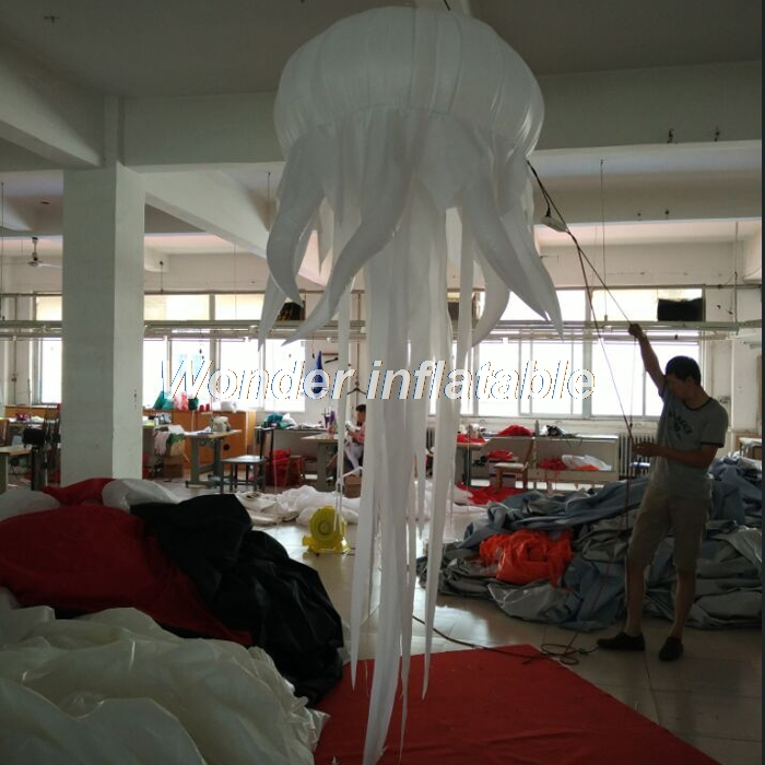 La meilleure vente 2mD LED a allumé la lumière gonflable artificielle de lampe de méduse, décorations gonflables de boîte de nuit