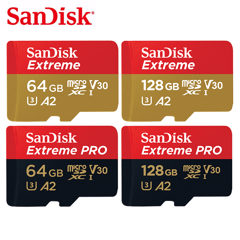 SanDisk 64GB MicroSD Memory Card 128GB TF Flash Card 256GB SDXC Card 32GB U3 Class10 V30 A2 UHS-I 4K UHD Video For Monitor/Drone