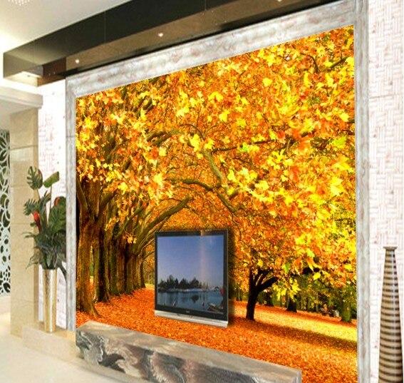 benutzerdefinierte umwelt 3d stereoskopische groen mural wohnzimmer sofa tv hintergrundtapete einfache natur landschaft - Natur Wand Im Wohnzimmer