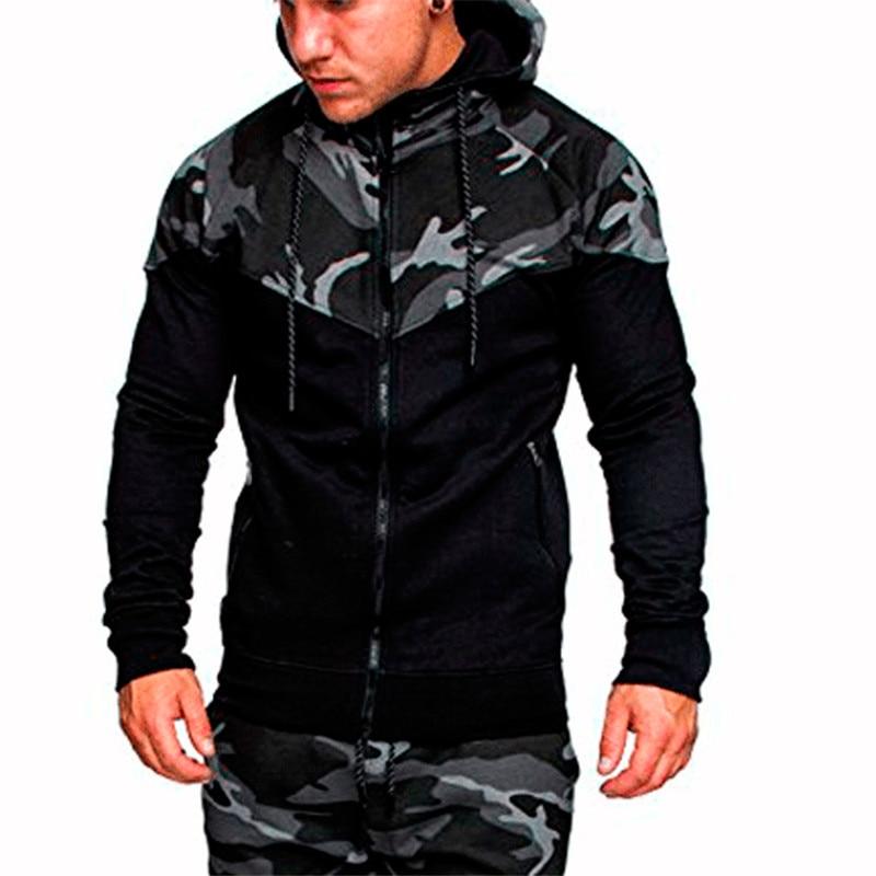2018 New Hoodie Zipper Cardigan Hoodies Men Fashion Tracksuit Male Sweatshirt Hoody Mens Camouflage hoodie sweatshirts