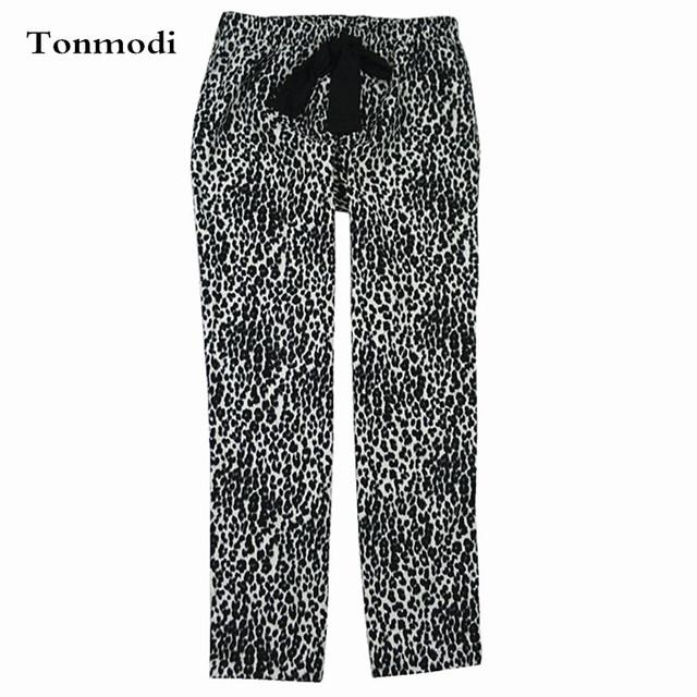 Pantalones de pijamas de Las Mujeres Trousers100 % Algodón Tejido Pantalones Largos Otoño E Invierno Pareja amantes de los Pantalones de salón