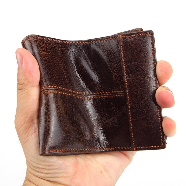 Новинка, Брендовые мужские кошельки из натуральной кожи, мужские кошельки для денег, мужские роскошные маленькие короткие дизайнерские сумки для монет, чехол для ID карты WB18