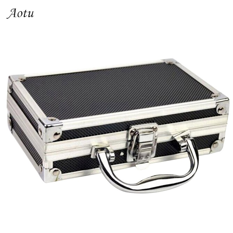 Case for Cosmetics Make Up Organizer Tool Case Storage Suitcase Travel Luggage Organizer Home Aluminium Alloy Storage Box Case