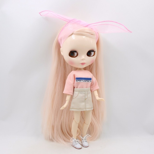 TBL Neo Blythe Doll Pale Pink Hair Jointed Body