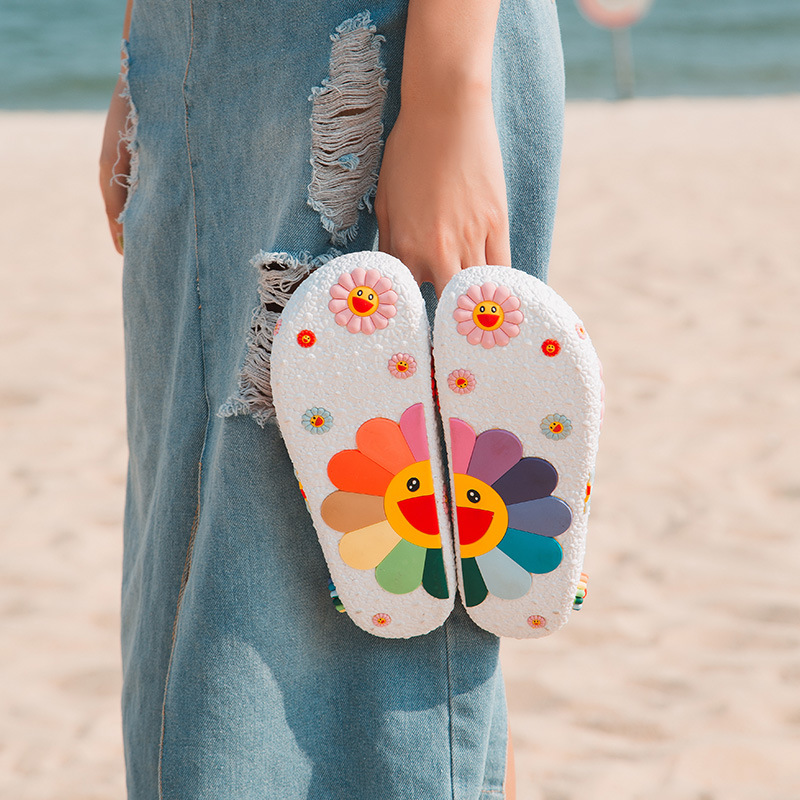 Carton Women Slippers Summer Beach Flip Flops Slippers Female Fruit Woman Shoes Women's Slides Slates Claquettes Femme Chaussure
