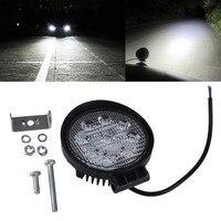 1pcs 4 Inch 27W 12V 24V LED Work Light Spot Flood Round LED Offroad Light Lamp