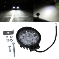 1pcs 4 Inch 27W 12V 24V LED Work Light Spot Flood Round LED Offroad Light Lamp