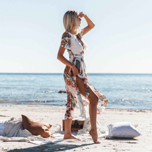 Womens New Floral Printed Dress Mini Women Summer Boho Style Evening Party