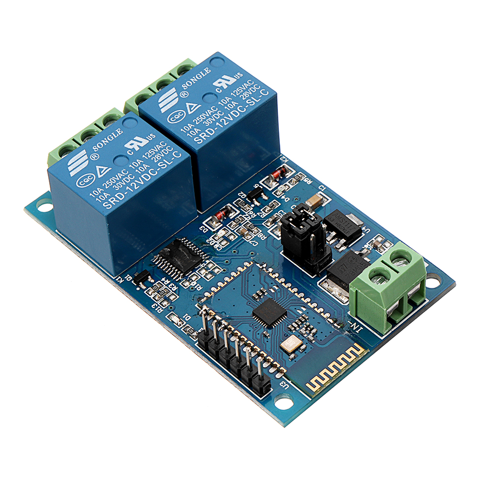 NEW DC12V 2 Channel bluetooth Relay IOT Smart Home APP Remote Control Switch ModuleNEW DC12V 2 Channel bluetooth Relay IOT Smart Home APP Remote Control Switch Module
