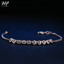 H011 Simple Crystal Rose Gold Color Bracelet Jewelry Made with Genuine  ELEMENTS Austrian Crystal For Women Wholesale