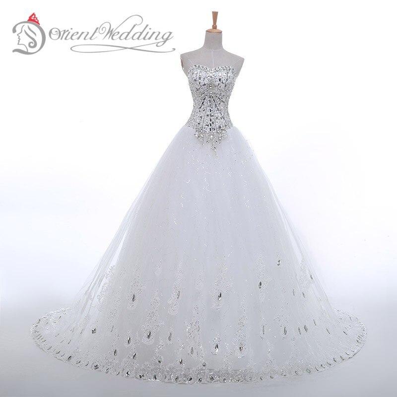 In stock sweetheart wedding dresses white rhinestone beads for In stock wedding dresses