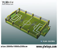 inflatable football and basketball field,inflatable sport games,inflatable basketball football field with protective net & grass