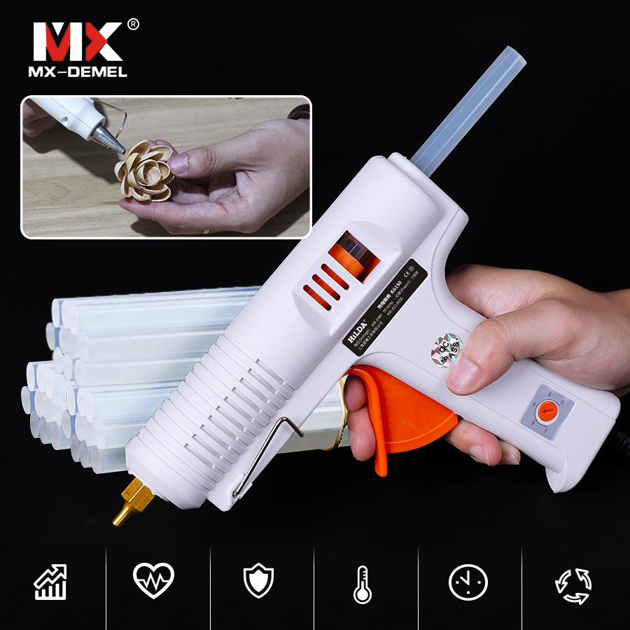 Back To Search Resultstools Dependable Mx-demel 150w Hot Melt Glue Gun Thermo Gluegun Repair Heat Tools Industrial Electric Silicone Guns For Metal/wood Working Diy Bright Luster