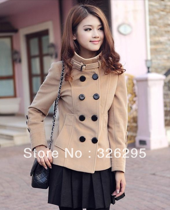 Popular Slim Short Pea Coat Women-Buy Cheap Slim Short Pea Coat