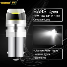 Xukey 2pcs Car COB LED BA9S T4W 233 1895 Lamps License Plate Reading Dome Globes Bulbs Auto Marker Side Reverse Lights White