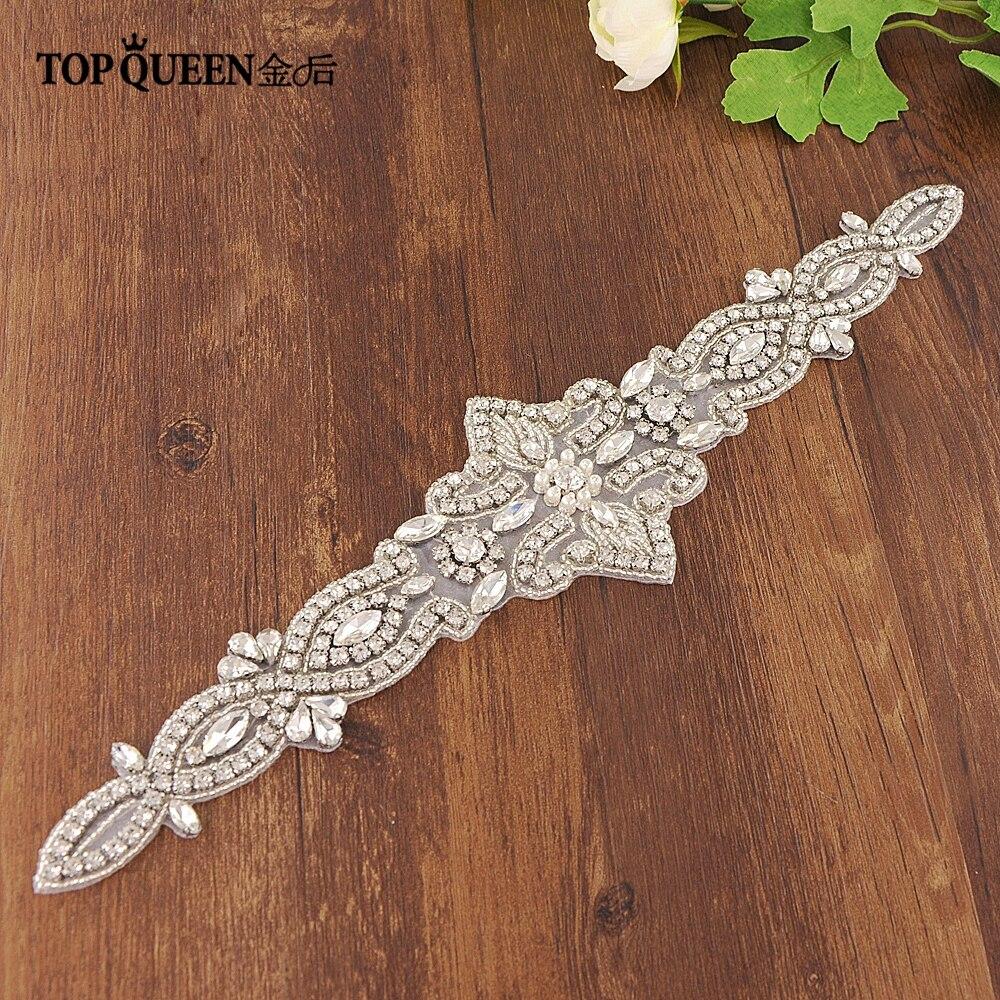 TOPQUEEN S245-a Bridal Sash Belt Wedding Belt Rhinestone Bridal Dresses And Accessories Rhinestone Belt For Wedding Dress